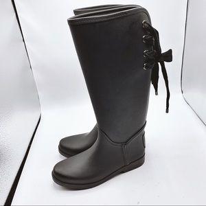 Coach Tristee Lace Up Rain Boots